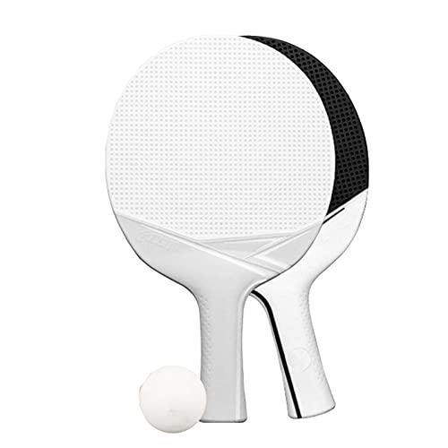 NASTON Juego de Raquetas horizontales de Tenis de Mesa Impermeables integradas de plástico para Exteriores, con 2 Raquetas y 1 Pelota,26 * 15.6CM