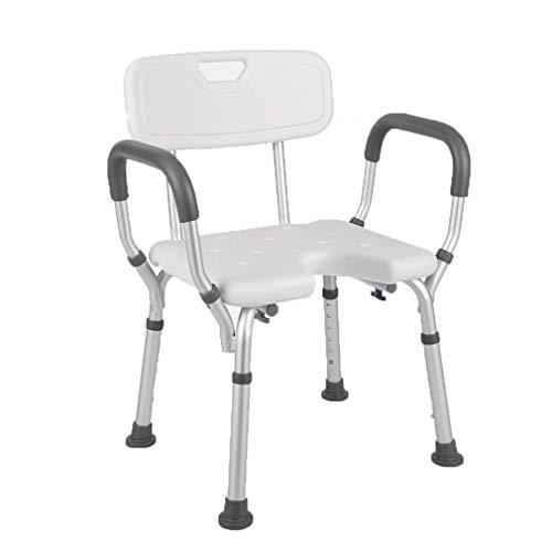 Tellgoy-Chair Duschstuhl Mit Armlehnen, Duschbank Komfortable Rückenlehne, Badewannenstuhl Höhenverstellbar Aluminiumlegierung Material Für Ältere Oder Behinderte Menschen,B