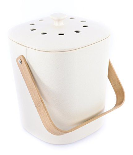 Bamboozle Food Compost Bin, Indoor Food Composter for Kitchen (Natural)