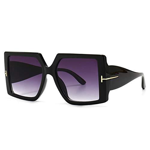 ShSnnwrl Único Gafas de Sol Sunglasses Gafas De Sol Cuadradas Clásicas De Gran Tamaño para Mujer, Gafas De Sol De Leo
