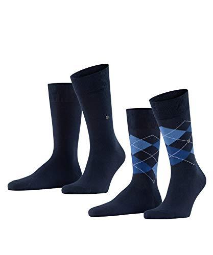 Burlington Everyday 2-Pack Herren Socken marine (6121) 40-46 aus weicher gekämmter Baumwolle