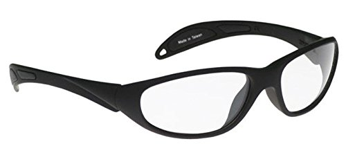 Schott SF-6 HT X-Ray Protective Lead Glasses, Black Maxx Wrap Safety Frame, 62x18x145mm