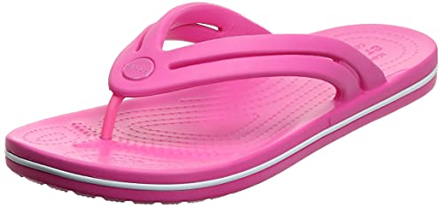 Crocs Crocband Flip Flops | Sandals for Women, Electric Pink, 9