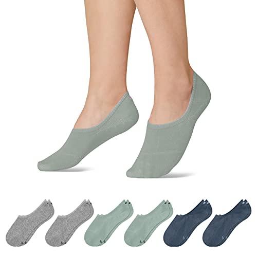 Snocks Sneaker Socken Damen und Herren (6x Paar) Füßlinge (6x Mix3, 43-46)