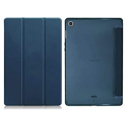 HHF Pad Accesorios para Samsung Tap S5E 10.5 2019, Tablet Folio Case Silicone Soft Back Back PU Cuero Auto Smart Funda para Samsung Galaxy T720 SM-T725 (Color : Navy)