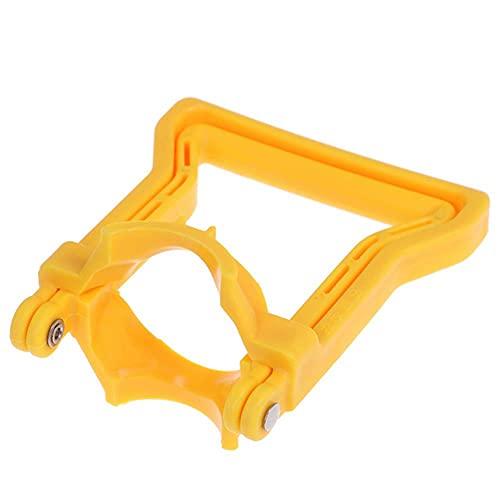 1 x Mango de agua embotellada de pl¨¢stico Ahorro de energ¨ªa Portador de elevaci¨n de cubo de cubo doble m¨¢s grueso-Amarillo