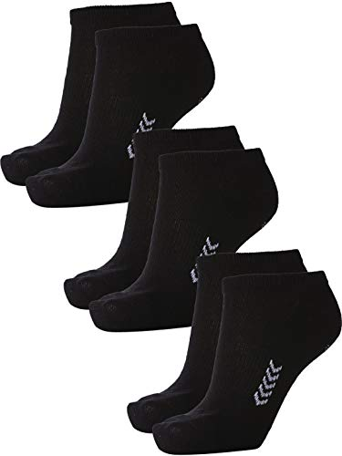 Hummel Unisex Sneaker Sport Socken im 3er Pack I schwarz 41-45