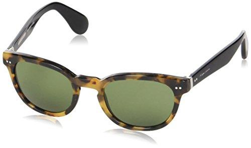Ralph Lauren heren RL8130P zonnebril, bruin (Havana Spotty On Black 525452), één maat (fabrikantmaat: 50)
