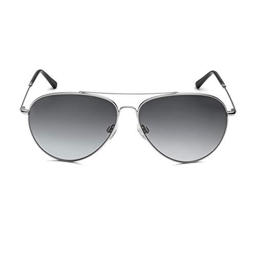 Audi 3111800400 Pilot - Gafas de sol, color gris