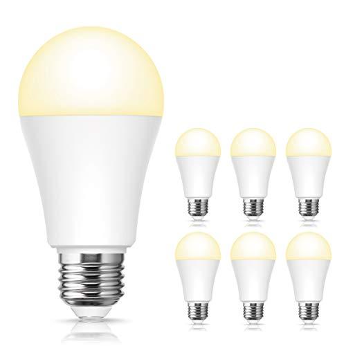 ロハス LED電球 E26口金 100W形相当 電球色 13W 高輝度 1250lm 一般電球形 調光器具対応 全方向タイプ 密閉形器具対応 6個入