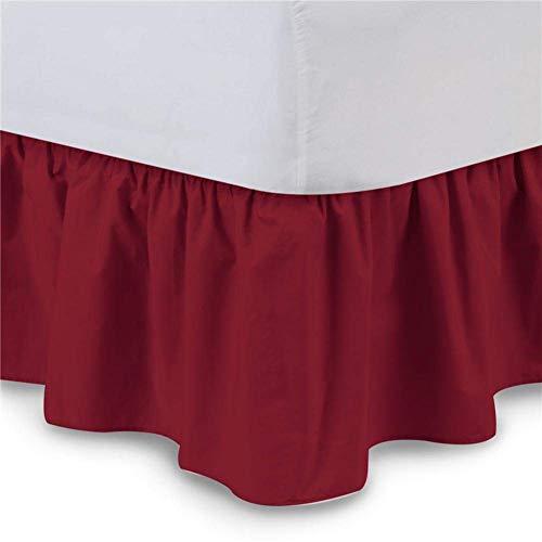 YANQIN Falda de Cama, Falda de Cama de Banda elástica de Color sólido sin Superficie de Cama, Falda de Cama Simple, Color sólido