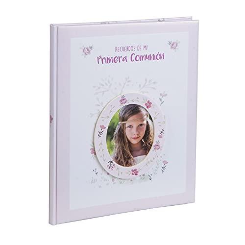 Busquets Libro comunion con paspartu NIÑA Rosa