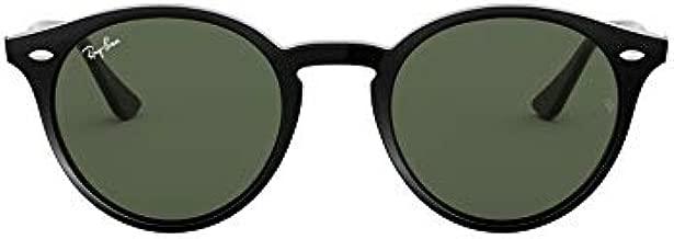 Ray-Ban Unisex-Adult RB2180 Sunglasses, Black/Green, 49 mm