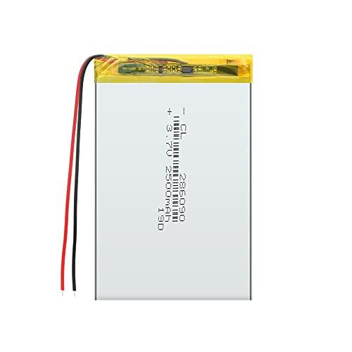 ZJBKX BateríA De PolíMero De Litio De 3.7v 2500mah 286090, Celdas Recargables De Repuesto para E-Book Power Bank iPad PSP 4Pcs