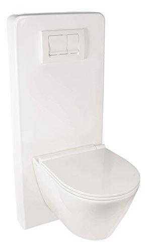 Sanitop-Wingenroth 30380 4 Kombo Sanitärmodul für Wand, Vorwandelement WC, Montageelement, Weiß-Acryl