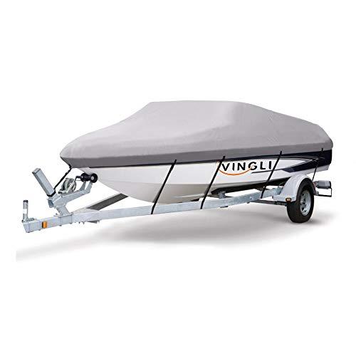 VINGLI Boat Cover Heavy Duty 600D Polyester Waterproof UV Resistant