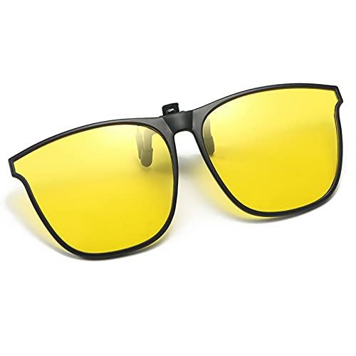 BestSiller Gafas de sol de espejo con clip TR, gafas de sol polarizadas abatibles, gafas de sol sin montura para conducir al aire libre