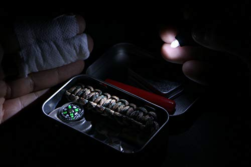 Mini Survival Tin - Pocket-sized tin, loaded with an impressive amount of outdoor survival essentials. UK-made.
