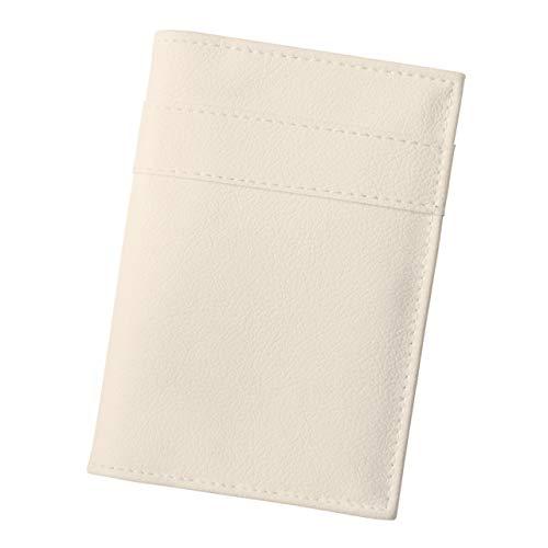 TEES FACTORY パスポートケース 通帳ケース enpas ホワイト パスポート ケース 大容量 合成皮革 日本製 かわいい PVC レザー