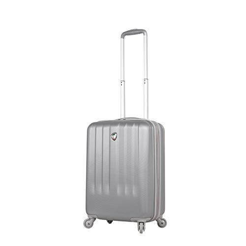 Mia Toro Italy Mozzafiato Hardside Spinner Carry-on, Silver, One Size