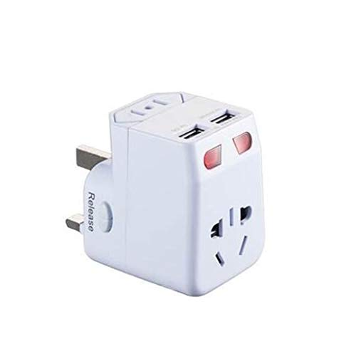 DAXINYANG Conversión enchufes USB Dual, Global Travel Power Conversion enchufes, adaptadores Internacional de Estados Unidos, la Unión Europea, Reino Unido, AUS Tapones