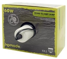 Komodo Black Dome Lamp Fitting With Clamp 14cm from Happy Pet Products Limited