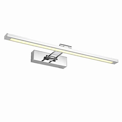 Iluminación de baño Espejo Luz Delantera Lámpara de Pared Foco LED Impermeable Antiniebla Acero Inoxidable Vanidad Espejo Gabinete Maquillaje Aparador Espejo Luz