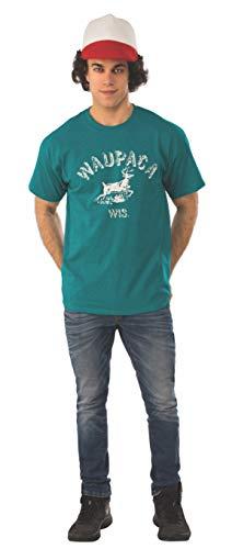 Rubie's Camiseta y gorro para hombre Stranger Things 1 Dustin Waupaca - - X-Large