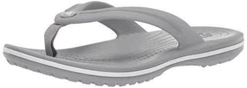 crocs Unisex-Kinder Crocband Flip GS' Zehentrenner, Grau (Light Grey), 32/33 EU