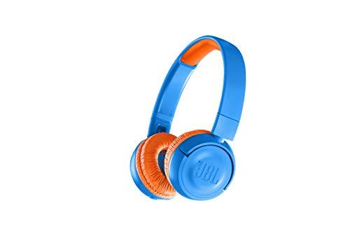 JBL JR300BT Kinder-Kopfhörer - Kabellose Bluetooth On-Ear Kopfhörer mit Lautstärkebegrenzung - Speziell entwickelt für Kinder Blau