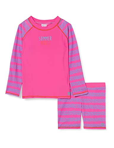 Schiesser Mädchen UV Sonnenschutz Badeset Schwimmshirt-Set, pink, 116