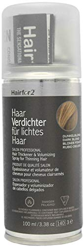 Hairfor2 Haarverdichter Spray, dunkelblond, 1er Pack, (1x 100 ml)
