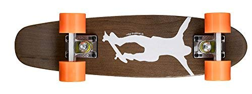 Ridge Erwachsene Maple Holz Mini Cruiser Number One Skateboard, Orange