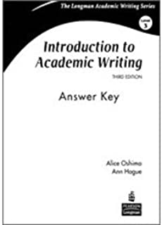 Introduction to Academic Writing: Answer Key