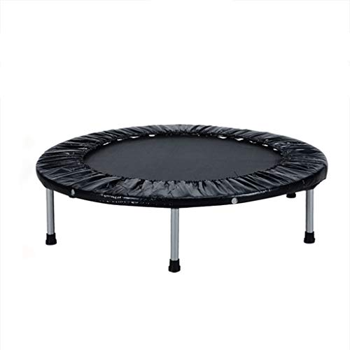Xiao Jian Trampoline, voor binnen, 4 trampolines, inklapbaar, voor volwassenen, fitnessstudio, babybed, 40 inch, zwart