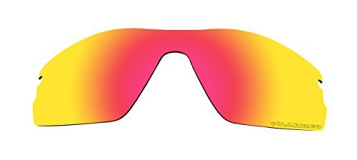 Polarized Replacement Lenses for Oakley Radar Pitch Sunglasses Fire Red Mirror Coatings by BVANQ