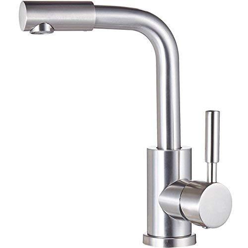 BXU-BG Grifo de lavabo de acero inoxidable 304 giratorio de un solo agujero de lavabo de agua fría y caliente grifo de calidad garantía de moderno y simple clásico retro de lujo decoración del hogar