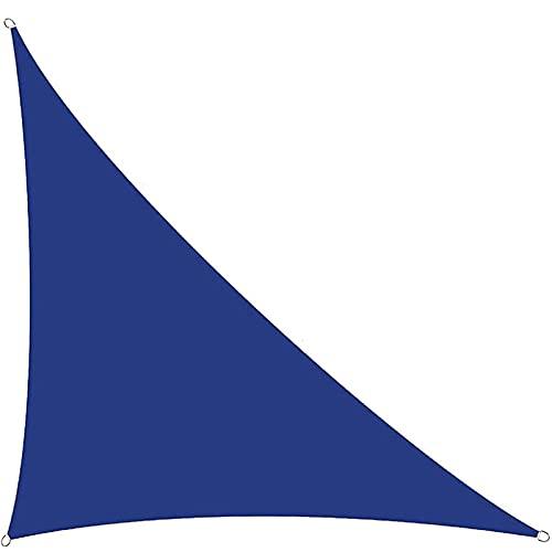 GPWDSN Sonnenschutzsegel, Gartensegel mit Seil, rechtes Dreieck Wasserdicht 95% blockverdicktes Sonnenverdeck, für Patios im Freien Patio Hinterhof Rasen (3x3x4,3 m, blau)