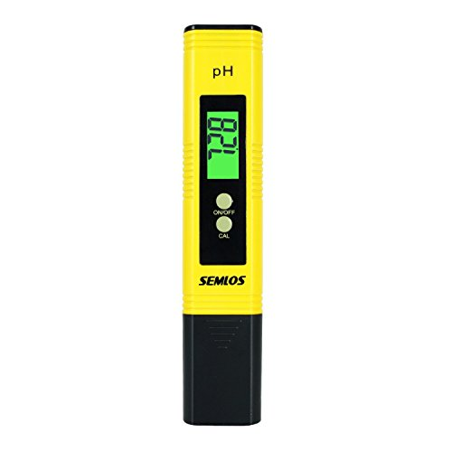 Semlos Digital PH Meter 0.01 Resolution Water Quality Tester with Auto Calibration and 0-14 PH Measurement Range for Household Drinking...
