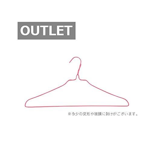 【アウトレット品】針金ハンガー 40�p 25本組 (ピンク)