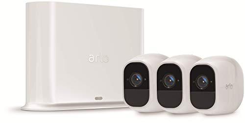 Arlo Pro 2 VMS4330P-100EUS - Sistema de seguridad y vídeo vigilancia de 3 cámaras sin cables 1080p HD (recargable, interior/exterior, visión nocturna, audio bidireccional, visión 130º)