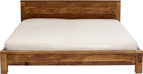 Kare Latino Bett 180x200, Korpus: Sheesham Holz, massiv, Füsse: Akazie, lackiert, Holzherkunft: Indien-Punjab, Braun, 180x200 cm