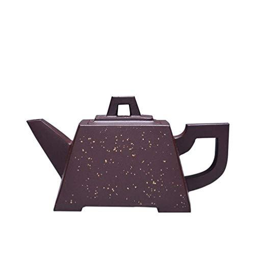 Ensemble de thé Pourpre Sable théières Zisha, théière en Argile Pourpre à la Main, Petite théière carrée 160 ML