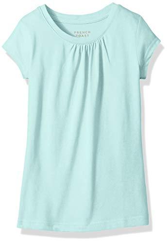 French Toast Girls' Short Sleeve Crewneck T-Shirt Tee, Parasail Aqua Heather, 4T