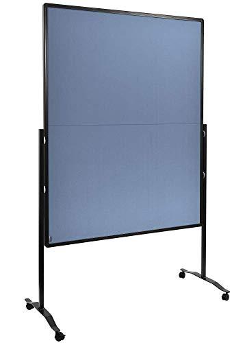 Legamaster 7-205210 Moderationswand Premium Plus, klappbar, höhenverstellbar im Hoch- oder Querformat, filzbespannt, blaugrau