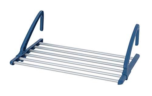 Wenko telescópico de aluminio universal Radiador y balcón Tendedero, extensible, aluminio, plata mate, 37.5x 106x 21cm