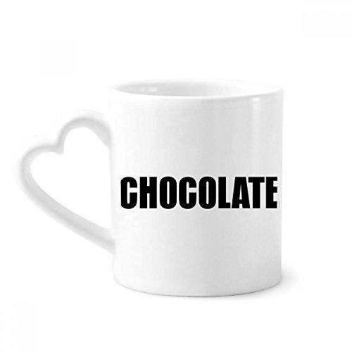 Chocolade kleur zwarte naam koffie mokken aardewerk keramische beker met hart handvat 12 oz gift