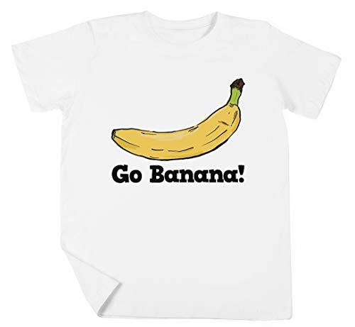 Go Banana! Niño Niña Unisexo Blanco Camiseta Manga Corta Kids White T-Shirt