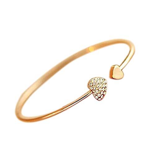 Ba30DEllylelly Modische Frauen Einzigartiges Armband Elegante Damen Damen Hochzeit Offenes Armband Armreif Feiner Schmuck