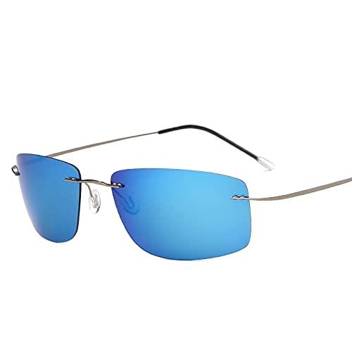 Gafas de sol polarizadas cuadradas sin marco retro al aire libre anti-reflectante gafas de sol 13-Zp5447-C2